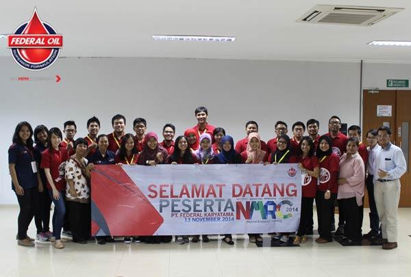 Peserta National Marketing Research Competition Sambangi Pabrik Federal Oil/Federal Oil