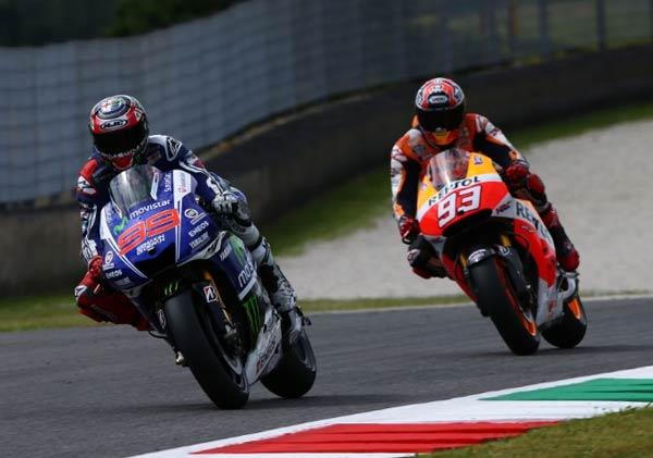 Hasil alap MotoGP Italia, Marc Marquez Juara MotoGP Italia, Jorge Lorenzo Gagal Podium Utama di MotoGP Italia, Laga Ke 300 Valentino Rossi