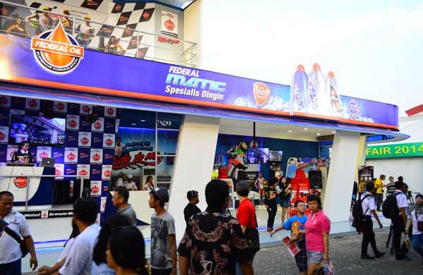 Oli Motor Anda Federal Oil, Federal Oil di Jakarta Fair Kemayoran 2014