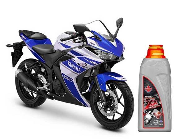 Oli Sepeda Motor Anda Federal Oil, Oli Motor Yamaha R25, Federal Supreme XX Racing untuk Yamaha R25