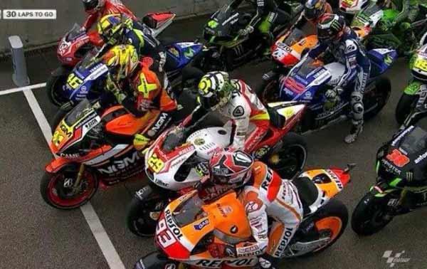 Rider MotoGp Start dari Pit Lane, 14 Rider MotoGP Start dari Pit Lane, Aksi Berbahaya Rider Moto GP Start dari Pit Lane