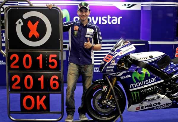 Lorenzo dan Yamaha Sepakat Bekerjasama Hingga 2016, Lorenzo Sepakati Kerjasama dengan Yamaha Hingga 2016
