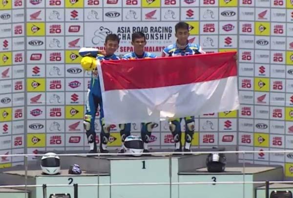 Tiga Wakil Indonesia Kuasai Podium Suzuki Asia Challenge Seri Perdana/Federal Oil