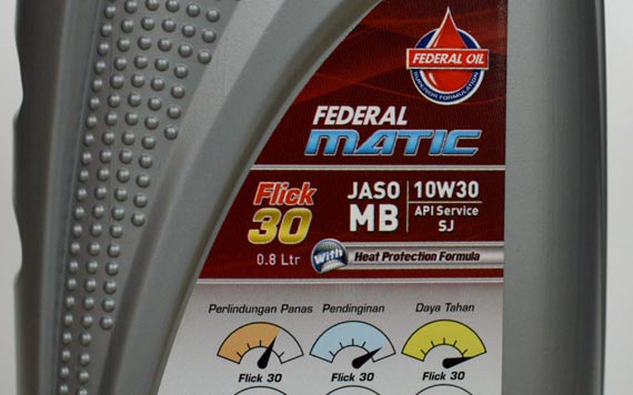 API Service Federal Oil, JASO MB Federal Matic, Federal Matic 30, Federal Matic 40, Produk Federal Oil